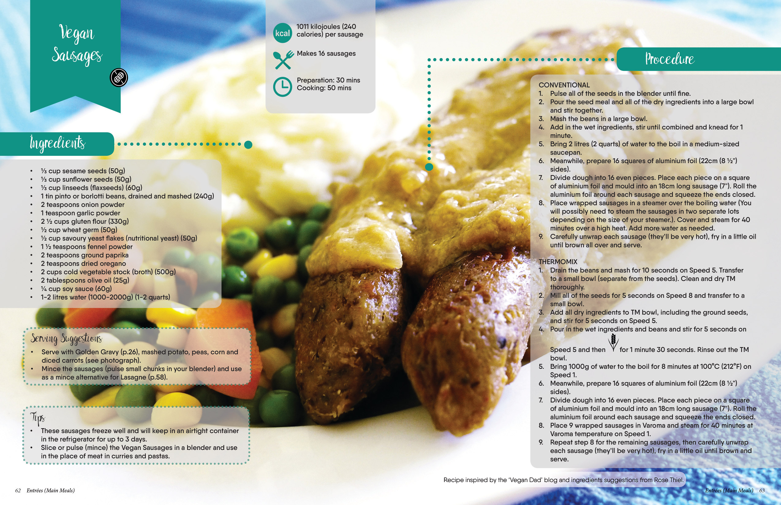 Not only carrots easy meals plant based cookbook vegan sausages recipe forumfinder Gallery